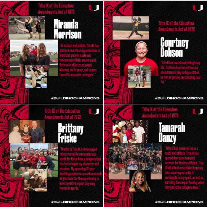 Union Athletics Celebrates 50th anniversary of Title IX