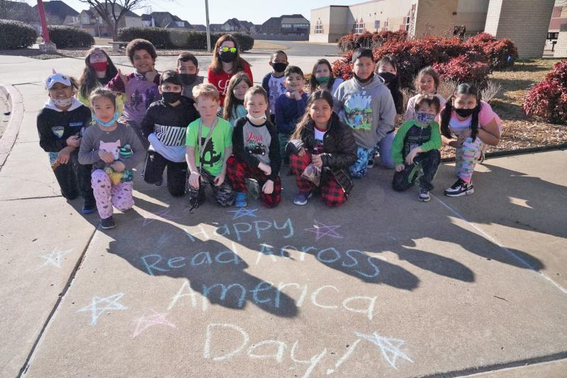 Moore Media Specialist Creates Story-Walks For Kids