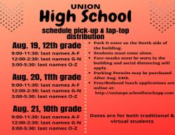 High School Schedule Pick Up & Laptop Distribution