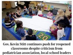 Gov. Stitt's Push to Reopen Schools Draws Criticism