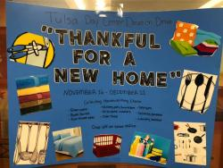 'Thankful for a New Home' Donation Drive