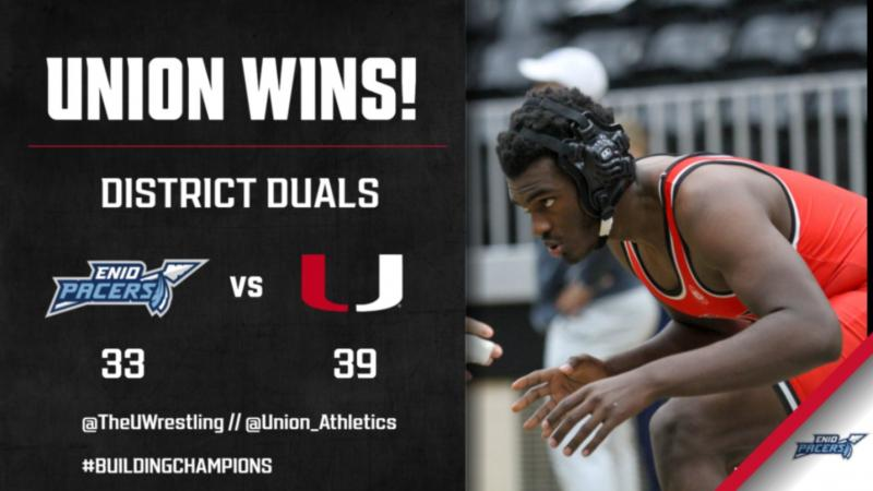 Union Wrestling Advances to OSSAA Dual State Tournament in March