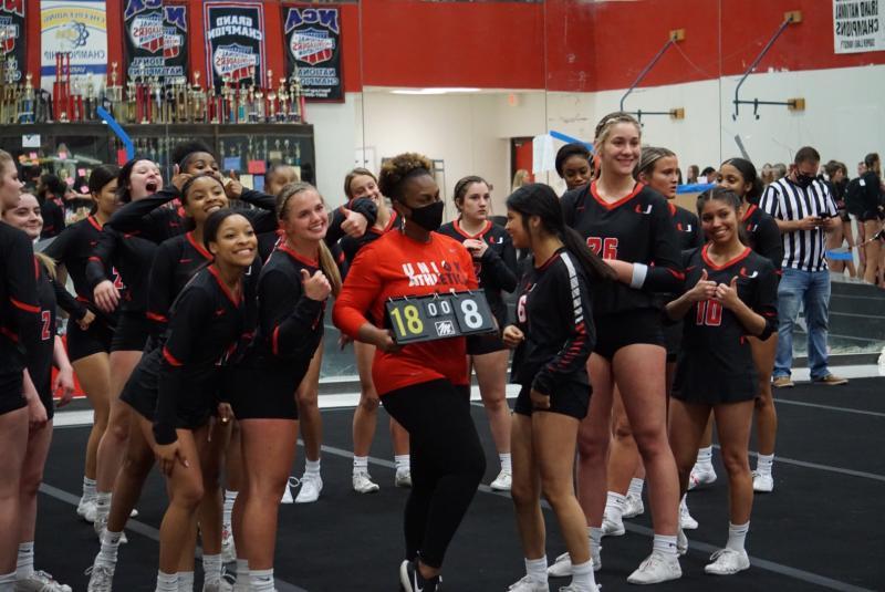 Varsity Cheer Beats Stillwater in STUNT