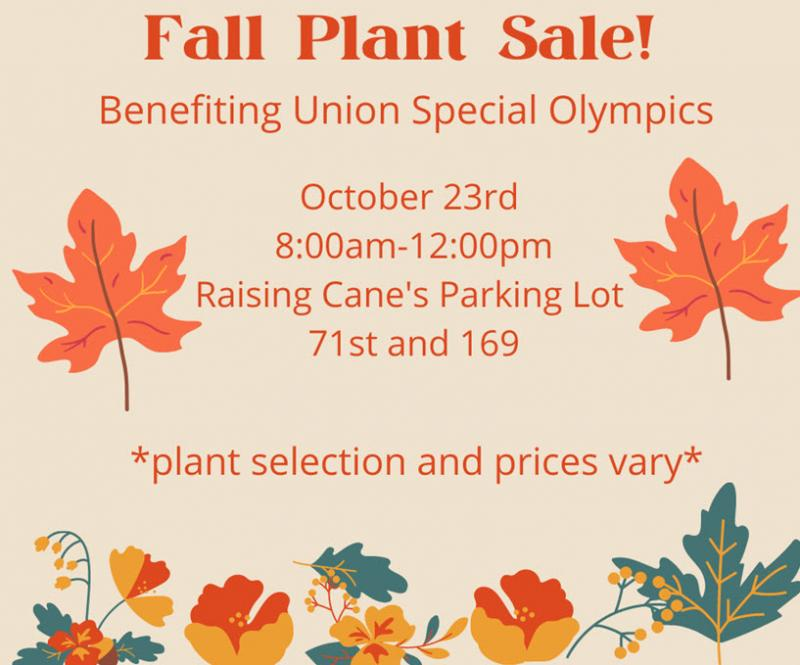 Plant Sale to Benefit Union Special Olympics Set Oct. 23
