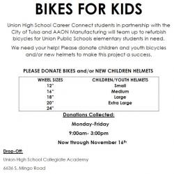 Union Career Connect Seeking Donations of Bikes & Bike Helmets