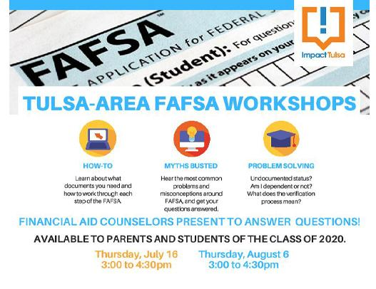 FAFSA Help for Class of 2020 this Thursday