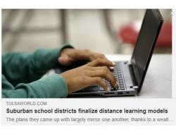 Suburban school districts finalize distance learning models
