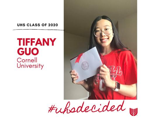 UHSDecided: Senior Tiffany Guo