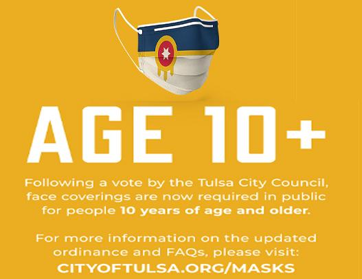 Kids 10 & Older Must Also Wear Masks in City of Tulsa