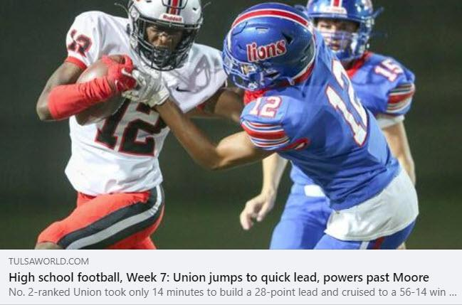 Tulsa World: Union Has Inside Track To A District Championship