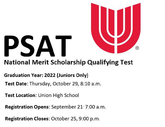 High School to Offer Juniors PSAT Test Oct. 29; Register Now