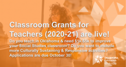 State Accepting Applications for Classroom Support Grants