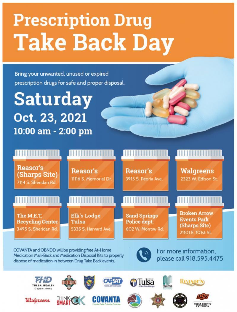 Prescription Drug Take Back Day Set Oct.23