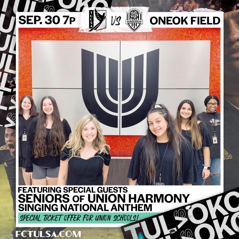 Union Harmony to Sing at Soccer Match