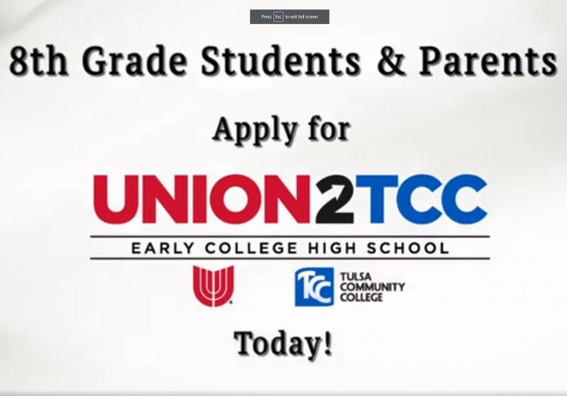 8th Graders: Apply for Early College High School