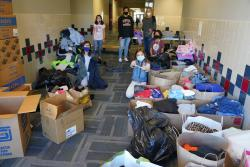 Grove Kids Collect Clothes for Charity