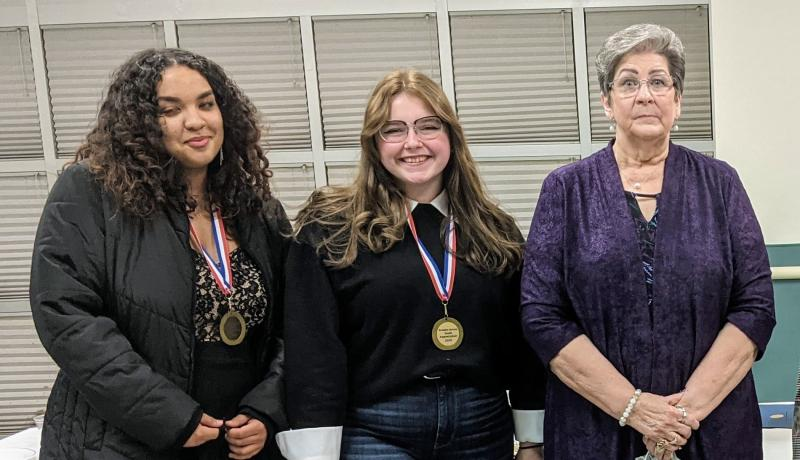 BA Optimists Club Honors 2 High School Students