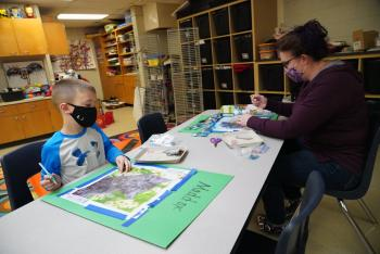 Community Education Classes: Diamond Art at Andersen Elementary
