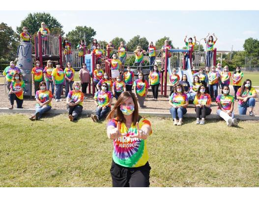 Jarman Elementary Poses for Staff Picture