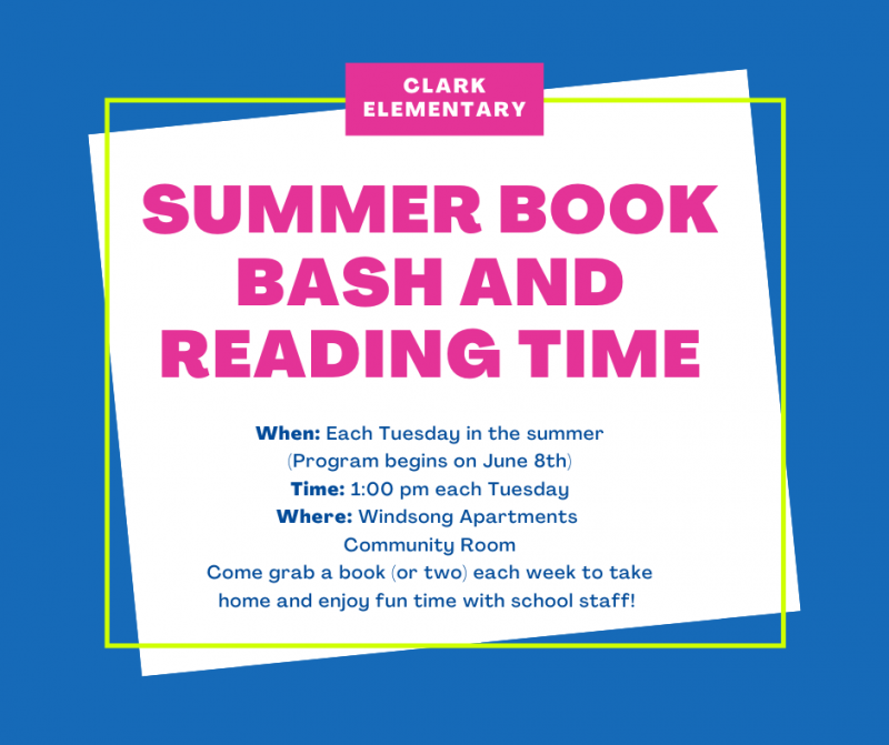 Summer Book BASH & Reading Time