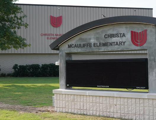 McAuliffe Elementary Sports New Look, Marquee