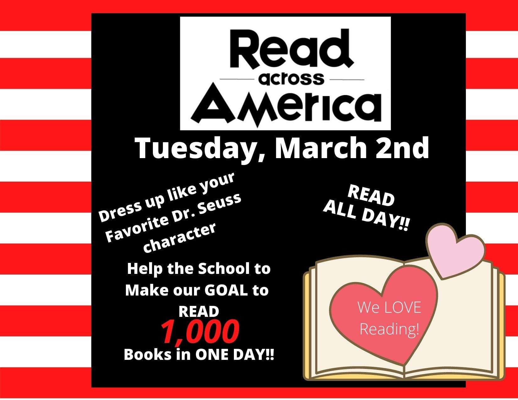 Boevers Elementary - A Community School - and many other Union Schools - are celebrating Read Across America this week with a number of activities, and especially today: the birthday of Dr. Seuss.