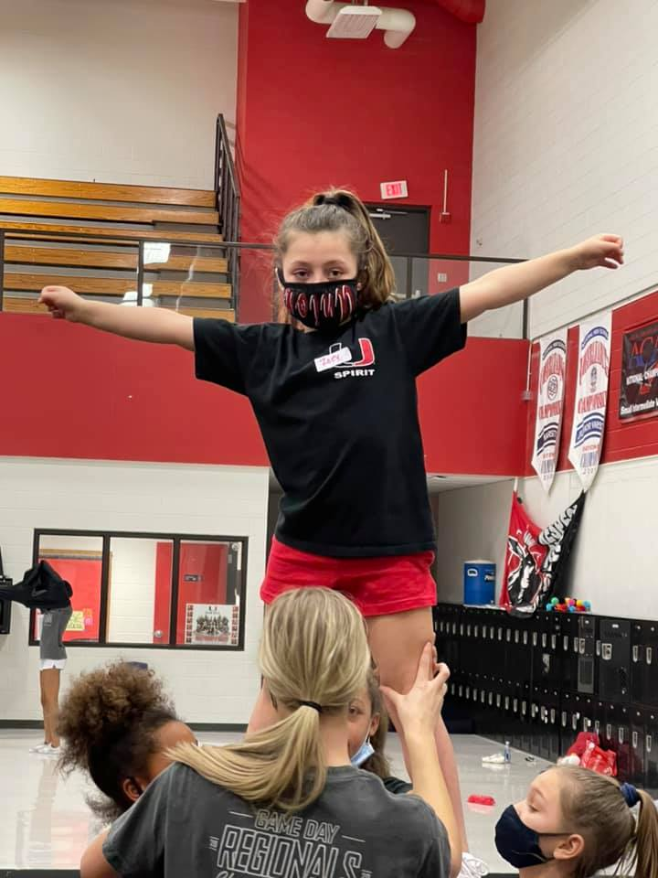 """Another Successful """"Future Union Cheerleader""""Mini Clinic is in the books!! We are excited to let them show off their new routine on Thursday, at the Union Varsity Girls Basketball Game! Game starts at 8:00!!"""