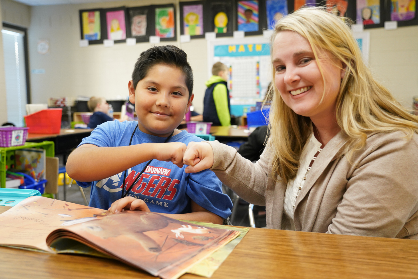 "Darnaby Elementary – Tara Miller, Reading Specialist Reading specialist Tara Miller has been named the Darnaby Elementary Teacher of the Year for 2019-2020. She has been with Union since 2006.  When Miller was a student at the University of Oklahoma in engineering, she decided to volunteer in a first grade classroom.   ""The students in this classroom were excited to be at school,"" Miller said. ""They worked in teams to create solutions to real-world problems. They created book talk videos featuring their favorite books.  They used art and music to help their learning stick.  All of these amazing, positive experiences the students were having was because of their loving and passionate teacher.  She created an environment in which her students could thrive.  I wanted to be just like her.  She inspired me to change my major and pursue elementary education.""  As a teacher, Miller has taught all subjects but she found her favorite to be reading.   ""Reading opens doors for students,"" Miller opined. ""They are able to leave where they are and become characters.  They have shared experiences with their characters and learn lessons that they can take with them.  They can read books of interest and learn new information.  I feel that the most exciting part of my job is in helping them become strategic readers.  They are able to make meaning from their text because they have strategies they can pull from their toolbox.  It brings joy to see students excited about reading.  I know that I have instilled a love for reading.""  Miller has a Bachelor of Science in Education degree from the University of Oklahoma, Master of Science in Teaching, Learning and Leadership degree; and is certified in Elementary Education, Reading Specialist, Social Studies, and English as a Second Language."