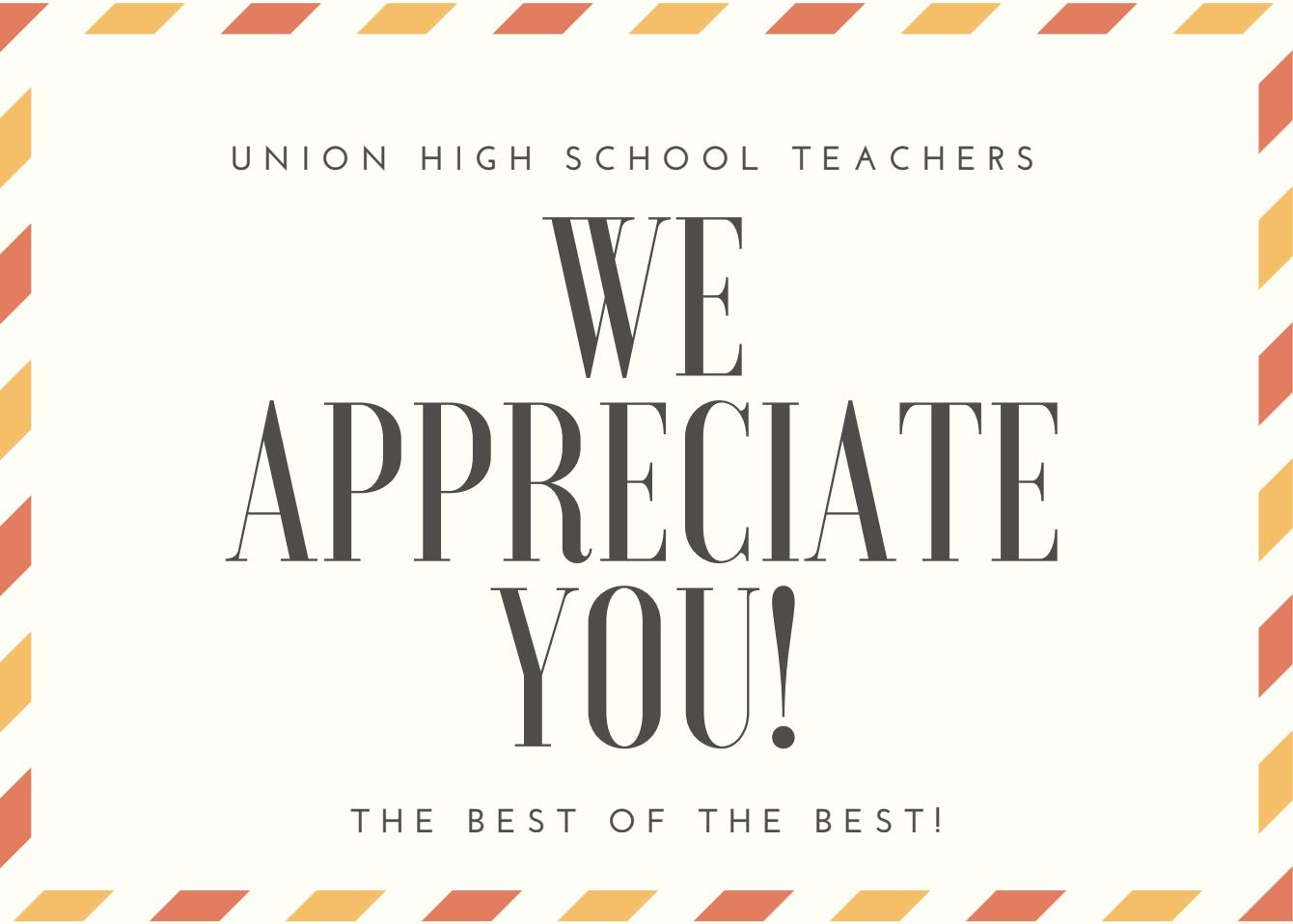 Happy National Teacher Appreciation Day! –Principal John Chargois