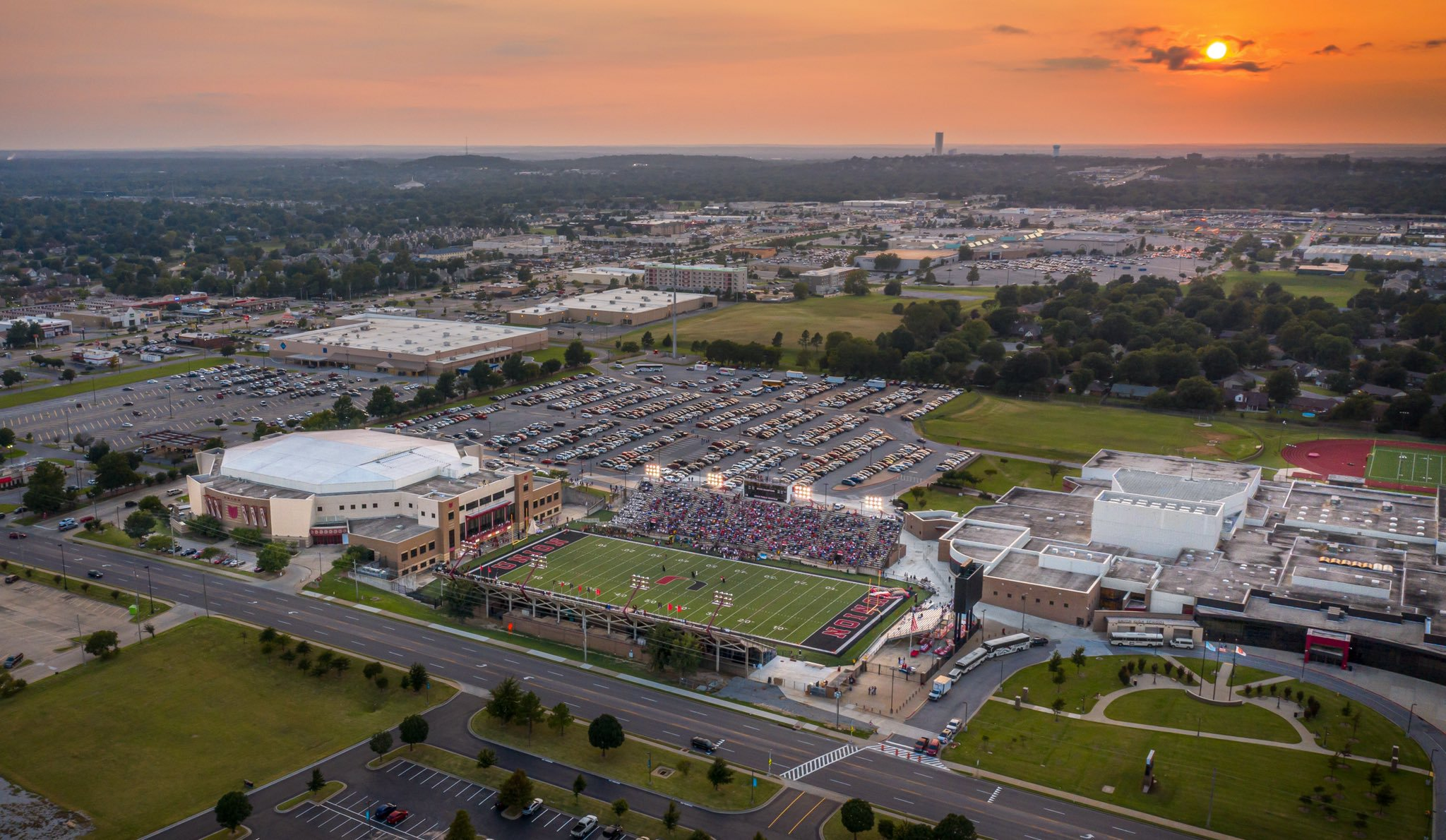 On Friday night, Union Public Schools celebrated 100 yearsas a district as well as the #uncommonvision it took 40+ years ago when building Union Tuttle Stadium.  At the conclusion of the 2019 season, construction will begin on the new stadium, set to re-open in 2021.