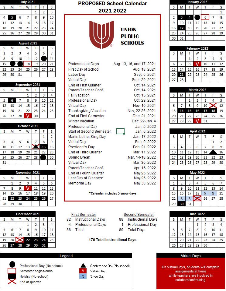 Tcc Calendar 2022.Union Public Schools District News