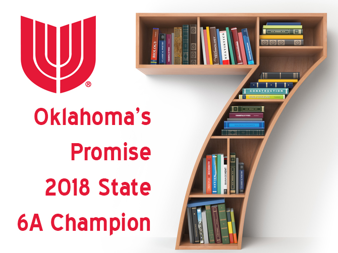 For seven consecutive years, Union Public Schools has been recognized by the Oklahoma State Regents for Higher Education as the Oklahoma's Promise 2018 State 6A Champion for having 154 seniors from the class of 2018 qualify for the Oklahoma's Promise Scholarship.