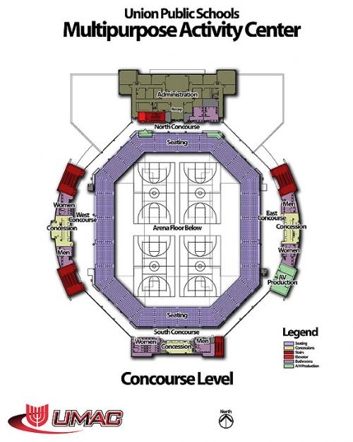 Arena – Concourse seating only