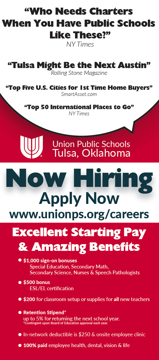 Apply for a job at Union Public Schools