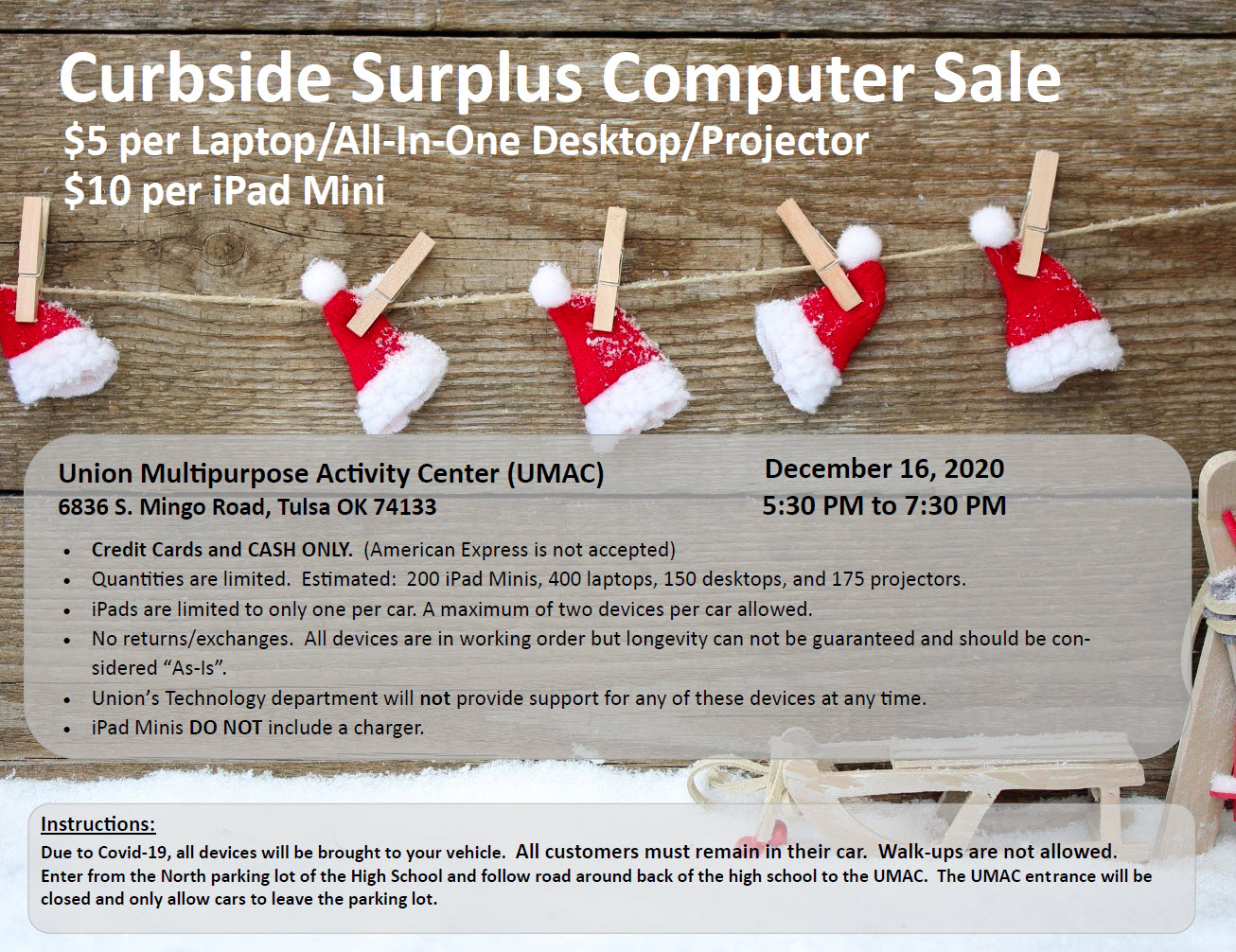Curbside Surplus Computer Sale Set Dec. 16