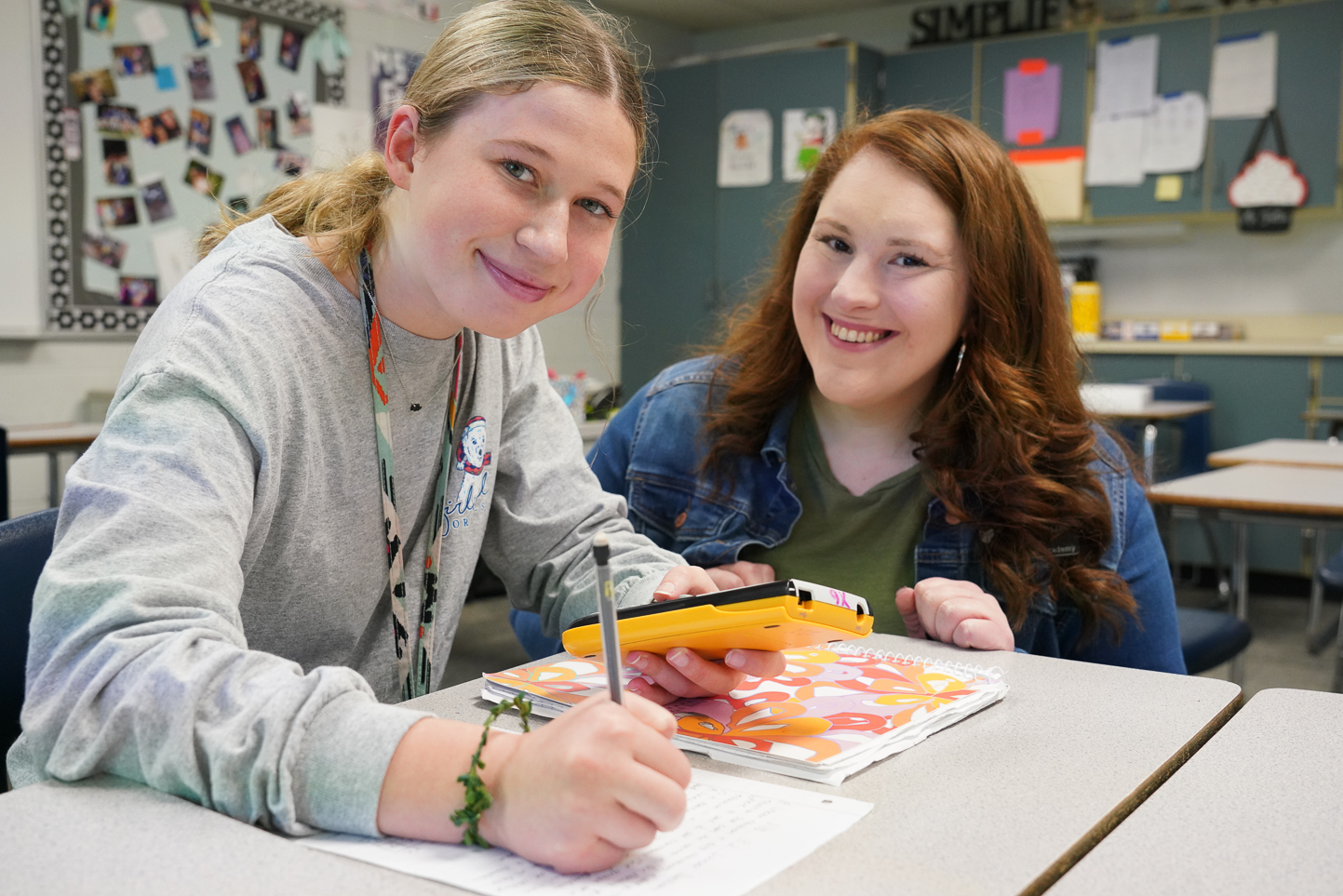 """Union High School Freshman Academy – Kelsey Fallis, Math Math teacher Kelsey Fallis has been named 2019-2020 Teacher of the Year for the Union High School Freshman Academy. She has been with Union since 2015. """"As long as I can remember, I have always wanted to be a teacher,"""" Fallis said. """"While growing up, I was inspired by several teachers. One of those inspirational teachers was while I was in middle school. She was one of those teachers who went above and beyond to build a trusting relationship with me. Every day, she met with me making sure that I understood my school assignments. Every day she also was encouraging me to do my best. She made me feel special.  While I was attending high school, I got pregnant with my son. As a soon to be parent, many teachers I encountered were very discouraging. These were the kind of teachers who gave up on students like me. As I fought to stay in school, I quickly learned that I needed support and guidance from educators. I came to realize that my son was going to depend on me and I needed to succeed for my son. As I navigated through my sophomore year of high school, I found teachers who would support me. They supported me because I would not allow my situation to be an excuse.  """"Those teachers who invested in me, taught me a valuable lesson when I became an educator. Investing in your students and building a relationship with them creates a student willing to learn. The students will say they are fine and won't admit they need help, but they do. When you invest in them, they become learners. I want all my students to become learners and feel like they are someone special. Invested teachers taught me how to succeed and I want to do the same for my students."""" Her favorite subject is math.  """"Math is fascinating and math is life,"""" Fallis said. """"Everything we do in the world is mathematical.  """"Every August, students dread walking into my classroom. They have entered the classroom thinking that they are going to fail math because """