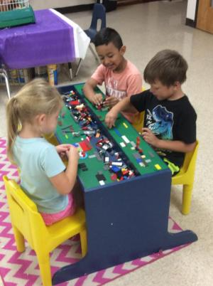 We love the Lego table!
