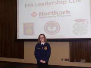 Carissa Rogers prepared public speaking 1st place