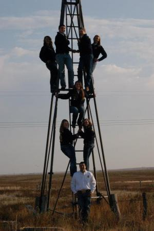 2012-2013 Officer Team taking to the heights