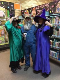 Two old witches and an English teacher.