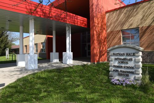 Entrance for Nathan Hale Intermediate School