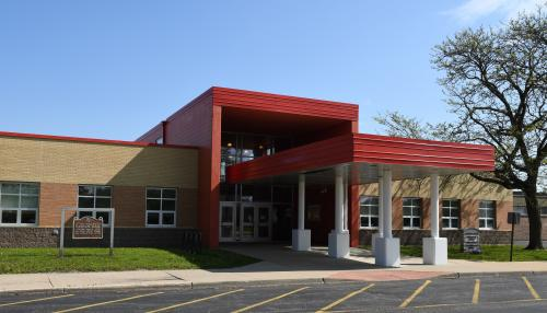 Front of Nathan Hale Primary Entrance