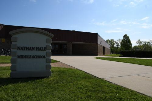 Front of building Nathan Hale Middle