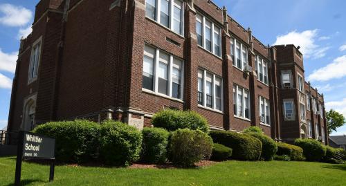 Side view of Whittier School