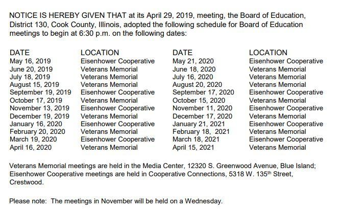 Meeting Dates 19-20