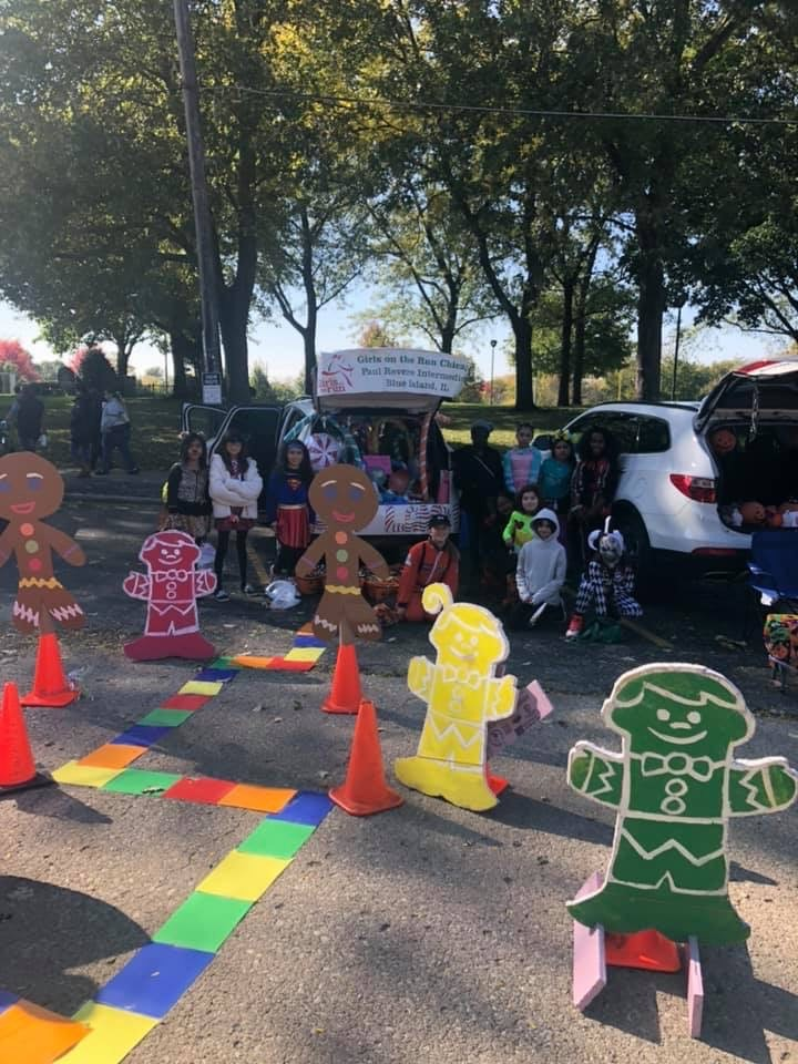 Girls On The Run supports Blue Island's Trunk or Treat
