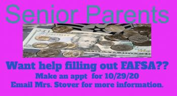 FAFSA Help Available for Senior Parents