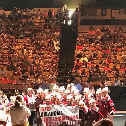Class 3a State champions cheerleading