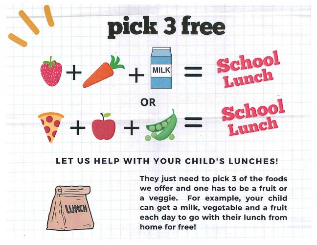 pick 3 free meals