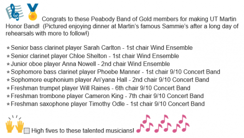 UTM Honor Band 2020